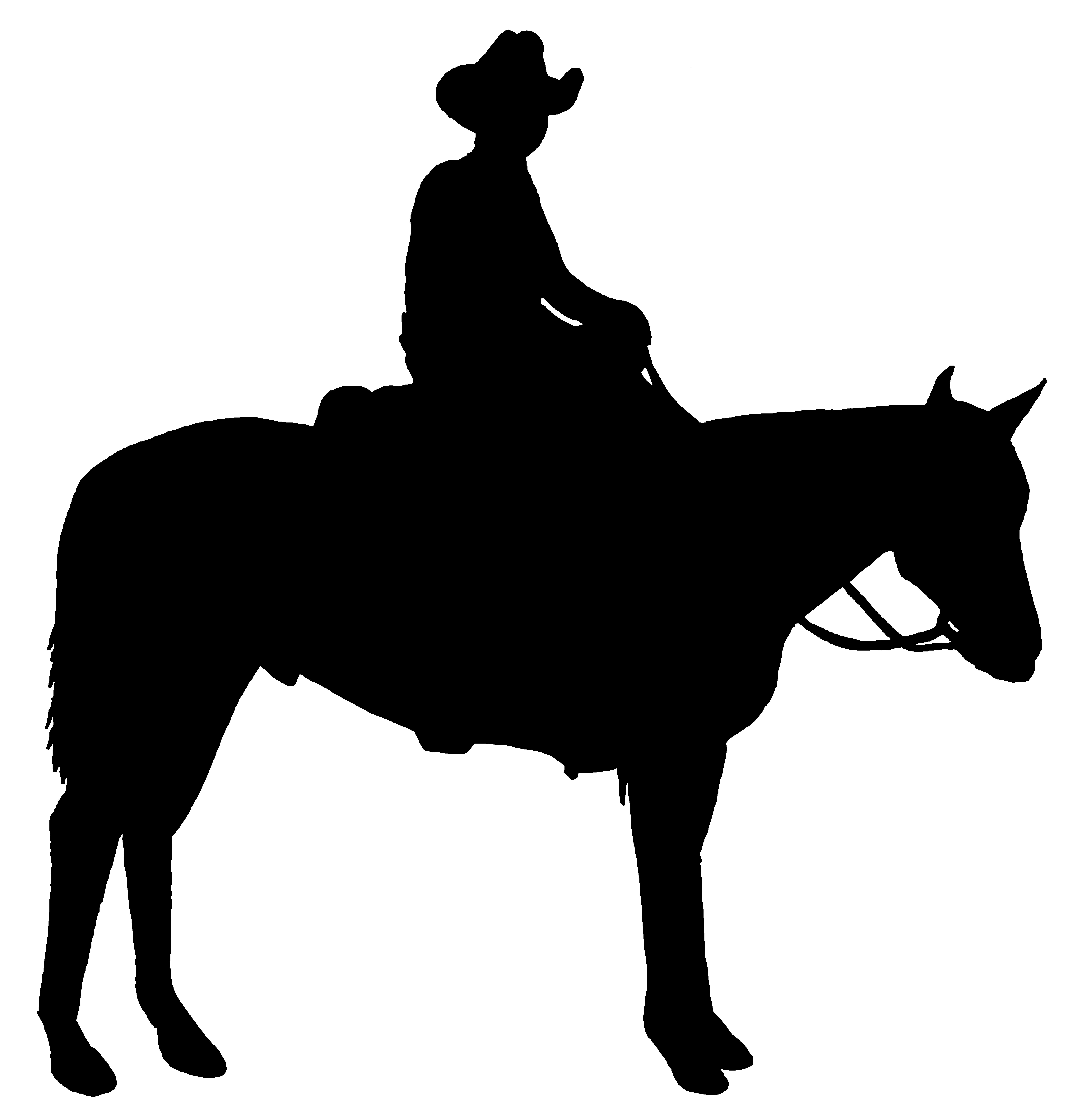Gallery For Cowboy On Horse Silhouette