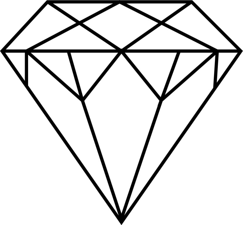 Gallery For Diamond Outline