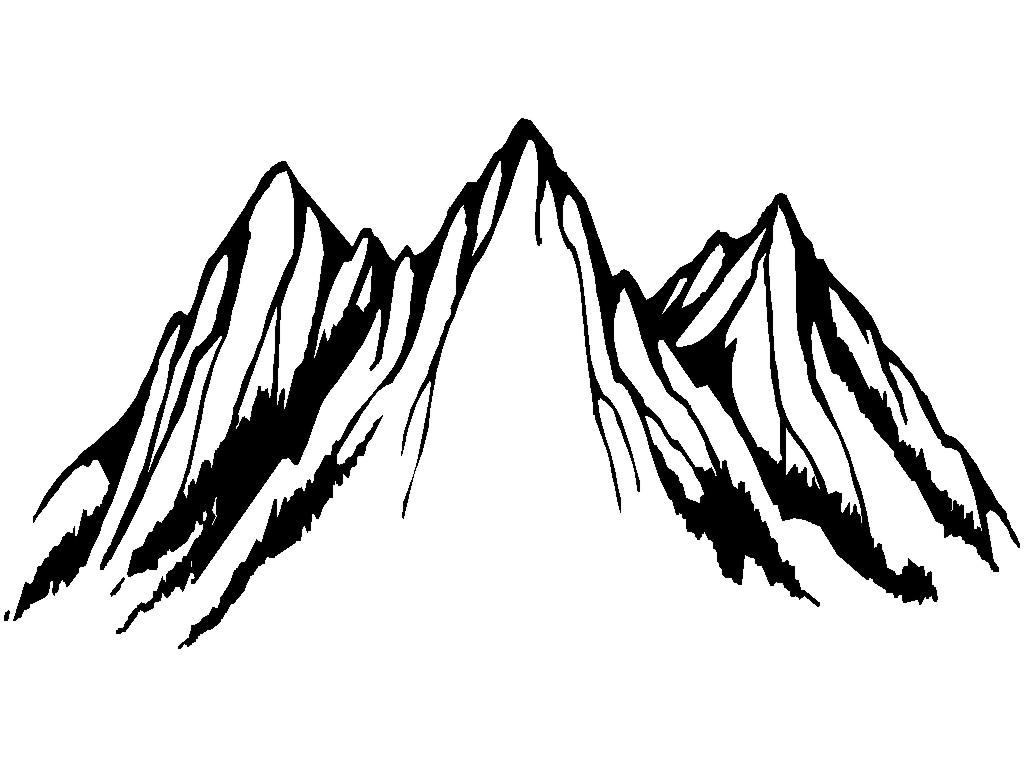 Gallery For Mountain Peak Outline
