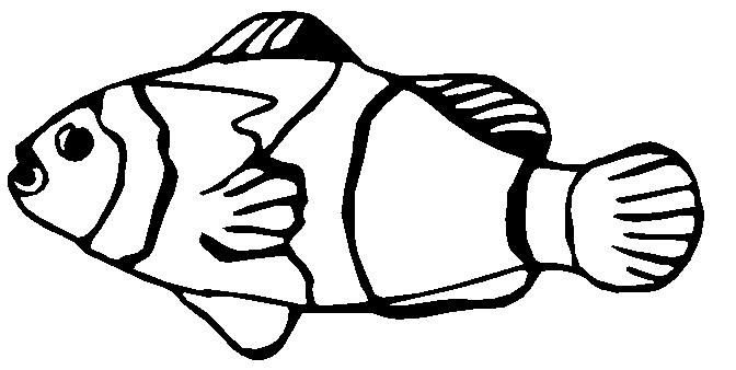 Gold Fish Black And White Free Clipart