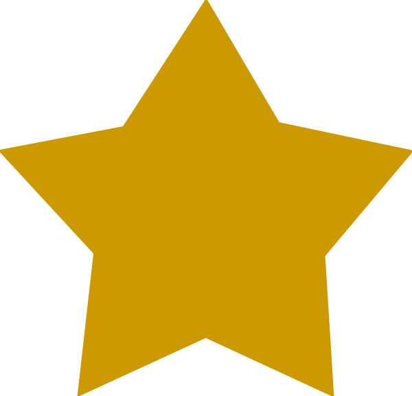 Gold Star Clipart No Background Star