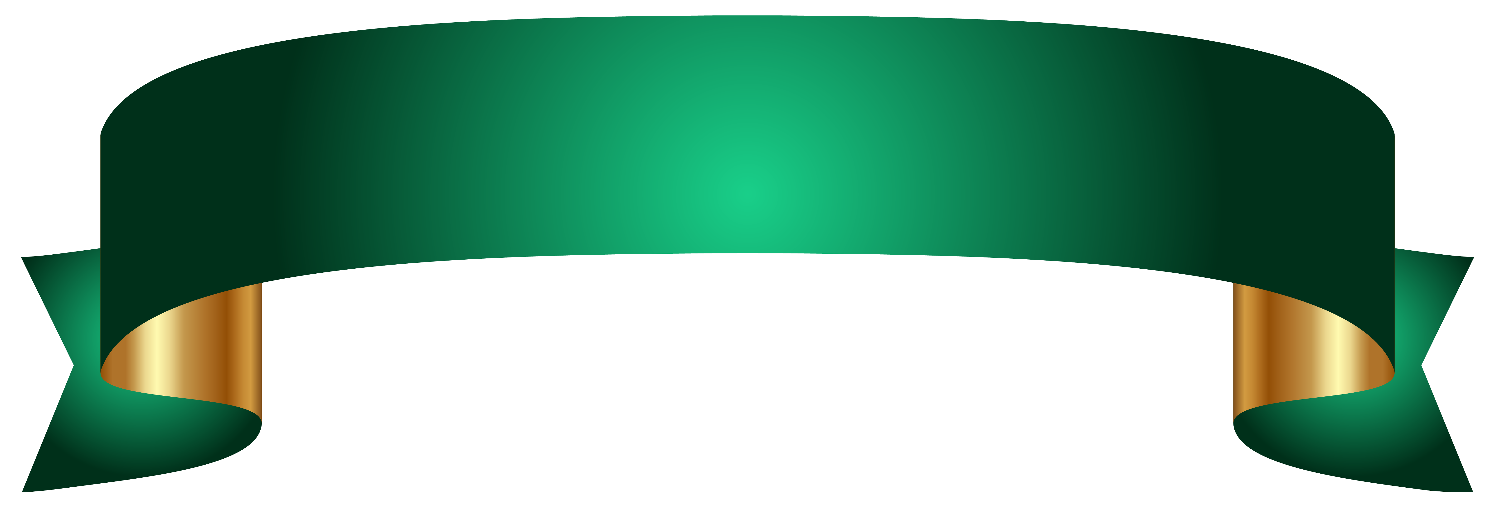 Green Banner Transparent Png Image