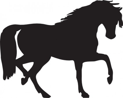 Horse Silhouette Free Vector In Open Office Drawing