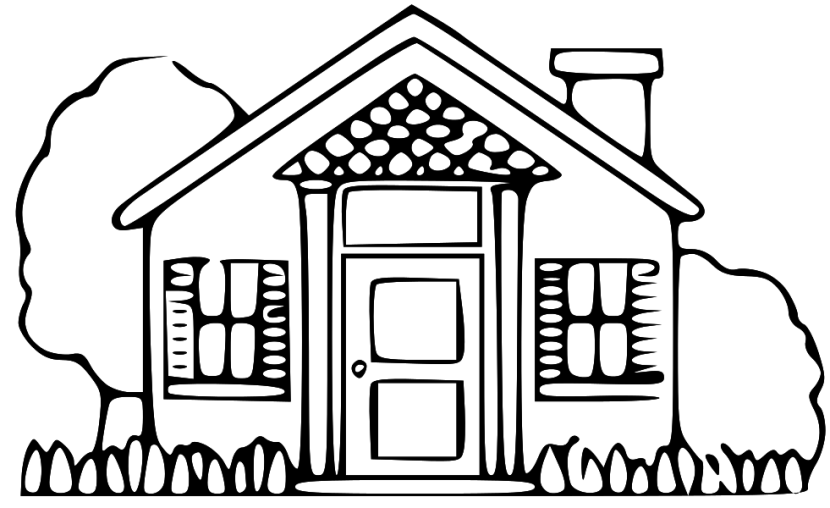 Line Art Of White House : Best house clipart black and white clipartion