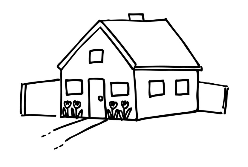 Best house clipart black and white 27217 Black and white homes