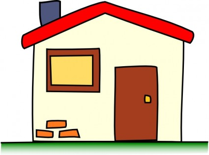 House In Black And White Free Clipart