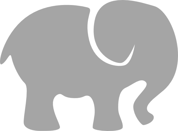 Image Baby Elephant Silhouette