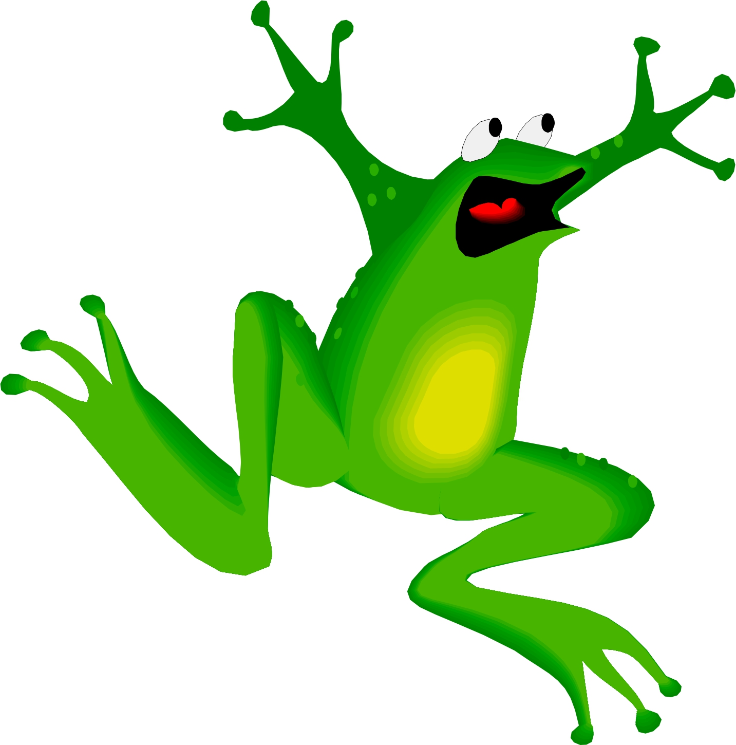 Best Hopping Frog Clipart #27888 - Clipartion.com