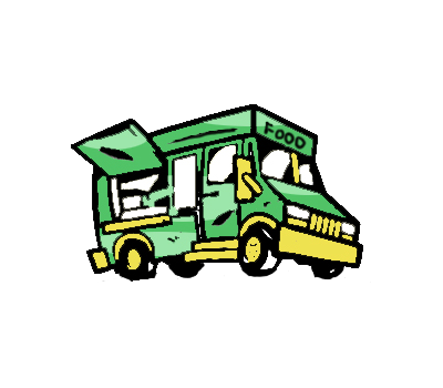 Mobile Food Truck Clipart
