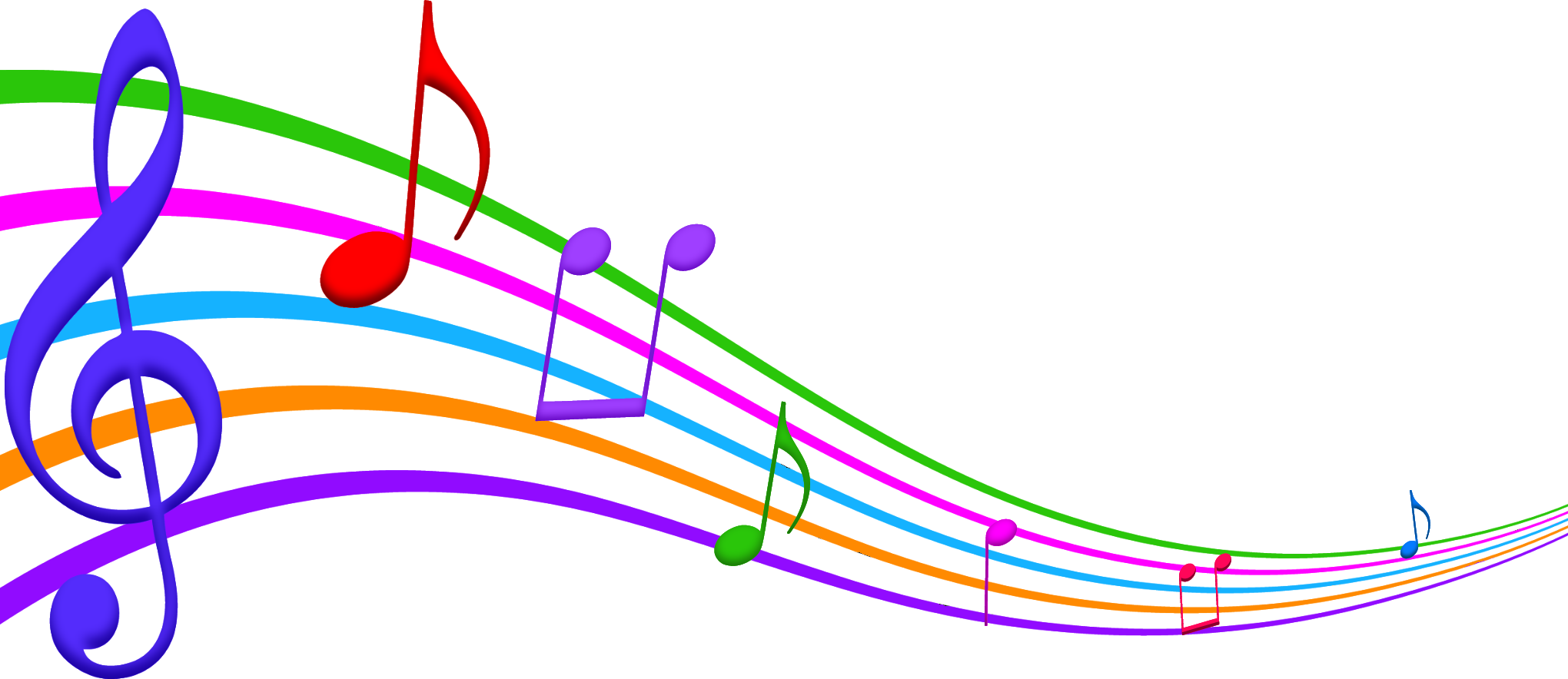 Music vector art colorful wallpaper free download png - Colorful Music Clipart 27930 Music Notes Png Music The Way Of Love Blog