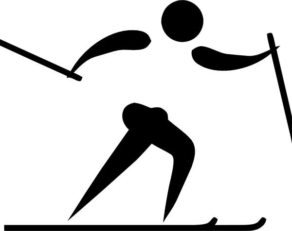 Olympic Sports Cross Country Skiing Pictogram Free Vector