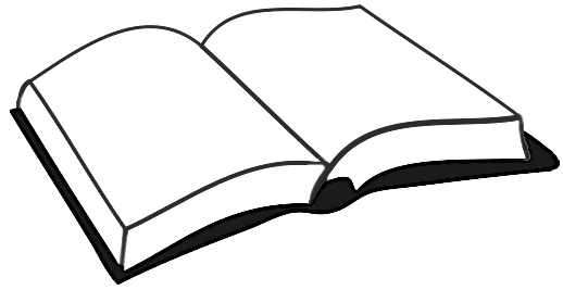 Open Book Black And White Free Clipart