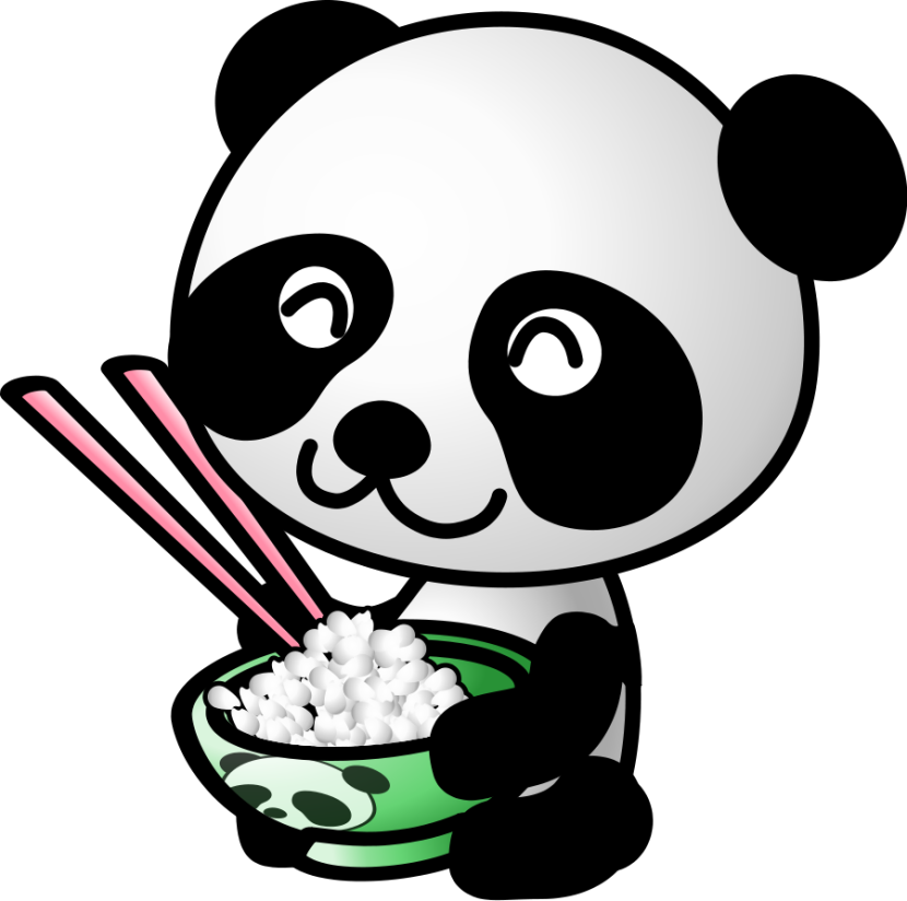 Panda Free Cartoon Of Food Free Clipart