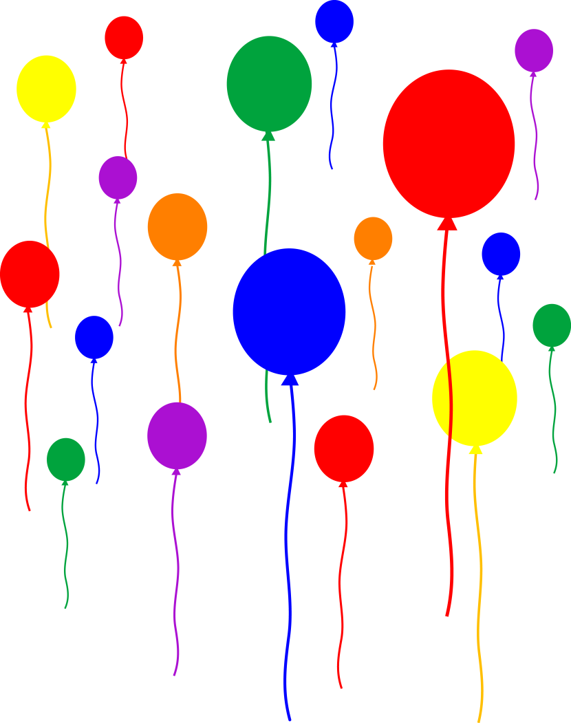 Party Balloons On Transparent Background Free