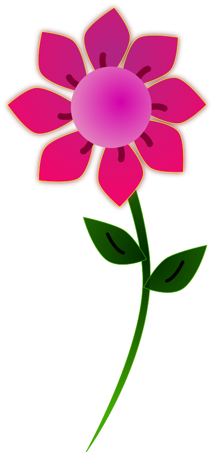 Pink Sun Flower Vector File Vector File