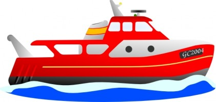 Red Boat Vector Free