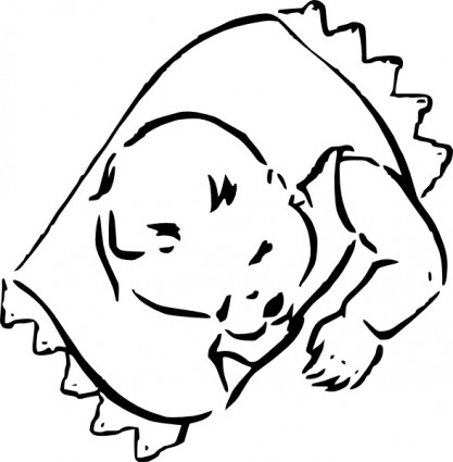 Sleeping Baby Free Vector In Open Office Drawing