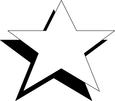 Star Black And White Free