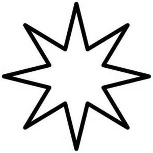 Star Black White Free