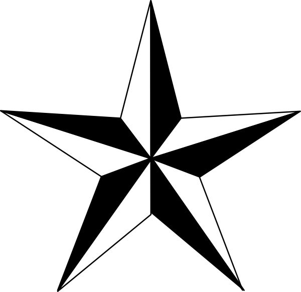 Western Silhouette Free Texas Star Vector