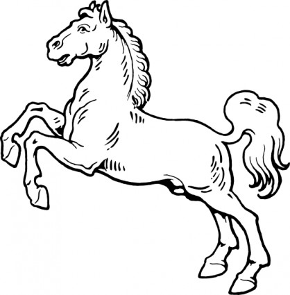 White Horse Free Vector In Open Office Drawing