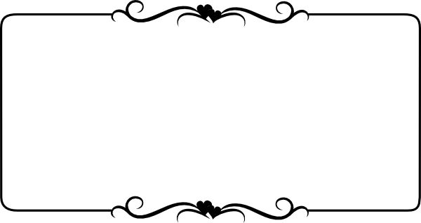 Word Wedding Embellishments Black Heart Border