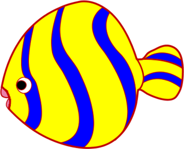 Yellow And Blue Fish Vector