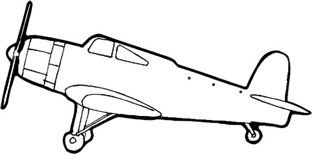 Airplane Clipart Black And White Free