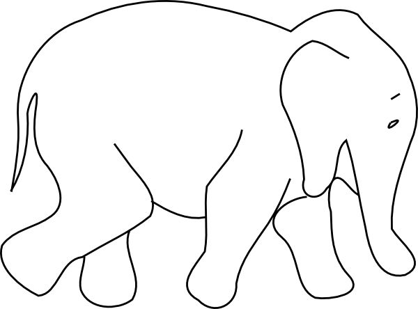 Animal Outline Drawings Elephant Animal Outline