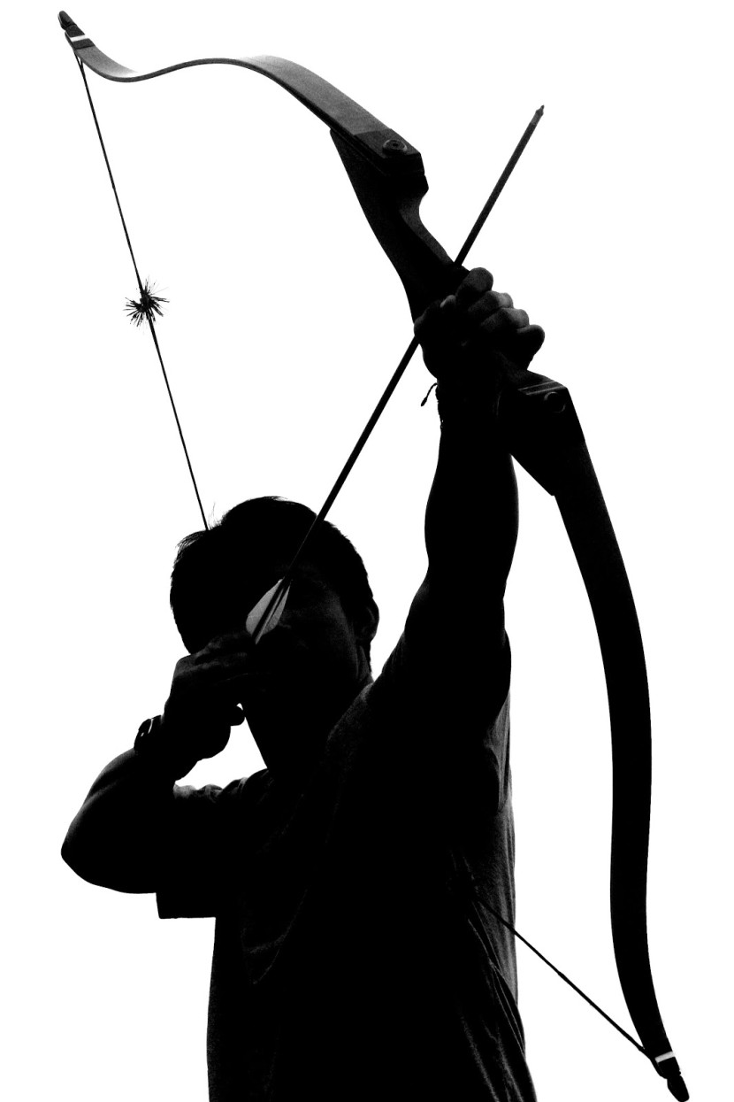 Archery Bow And Arrow Clipart Image