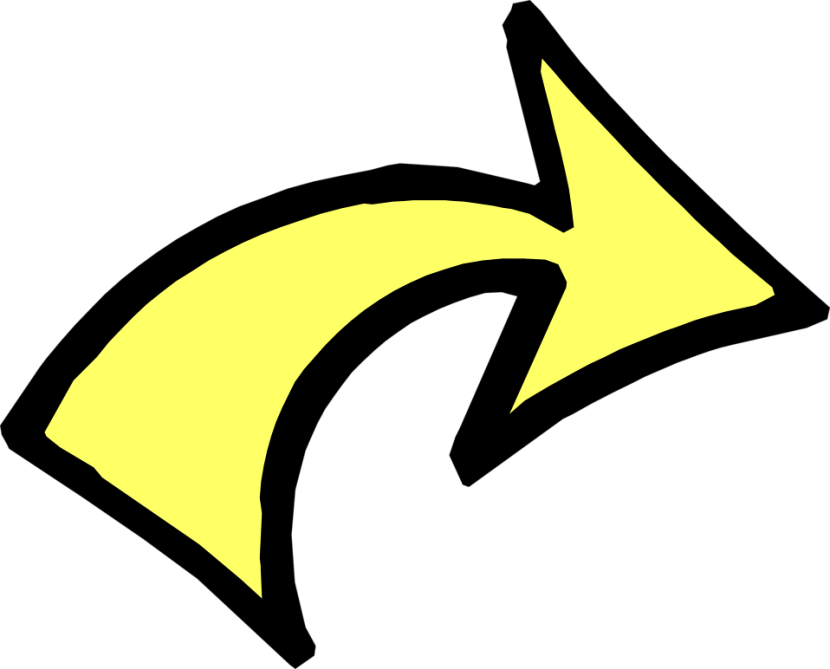 Arrow Yellow Free Illustration Of A Curved Right