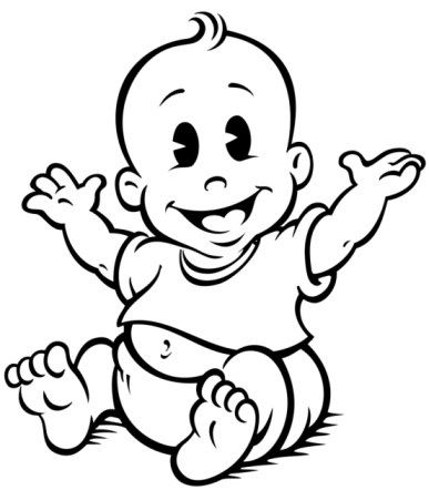 Best Baby Clipart Black and White #28195 - Clipartion.com