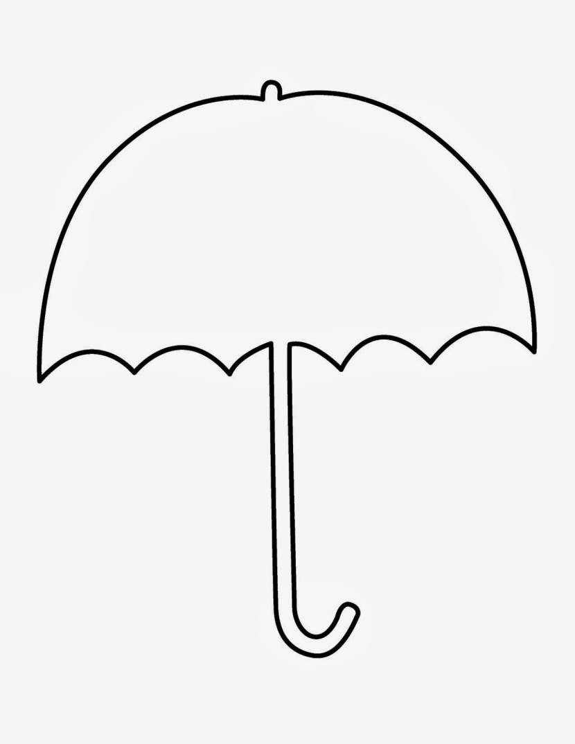 Umbrella Clipart Black And White Baby Clipart Bl...