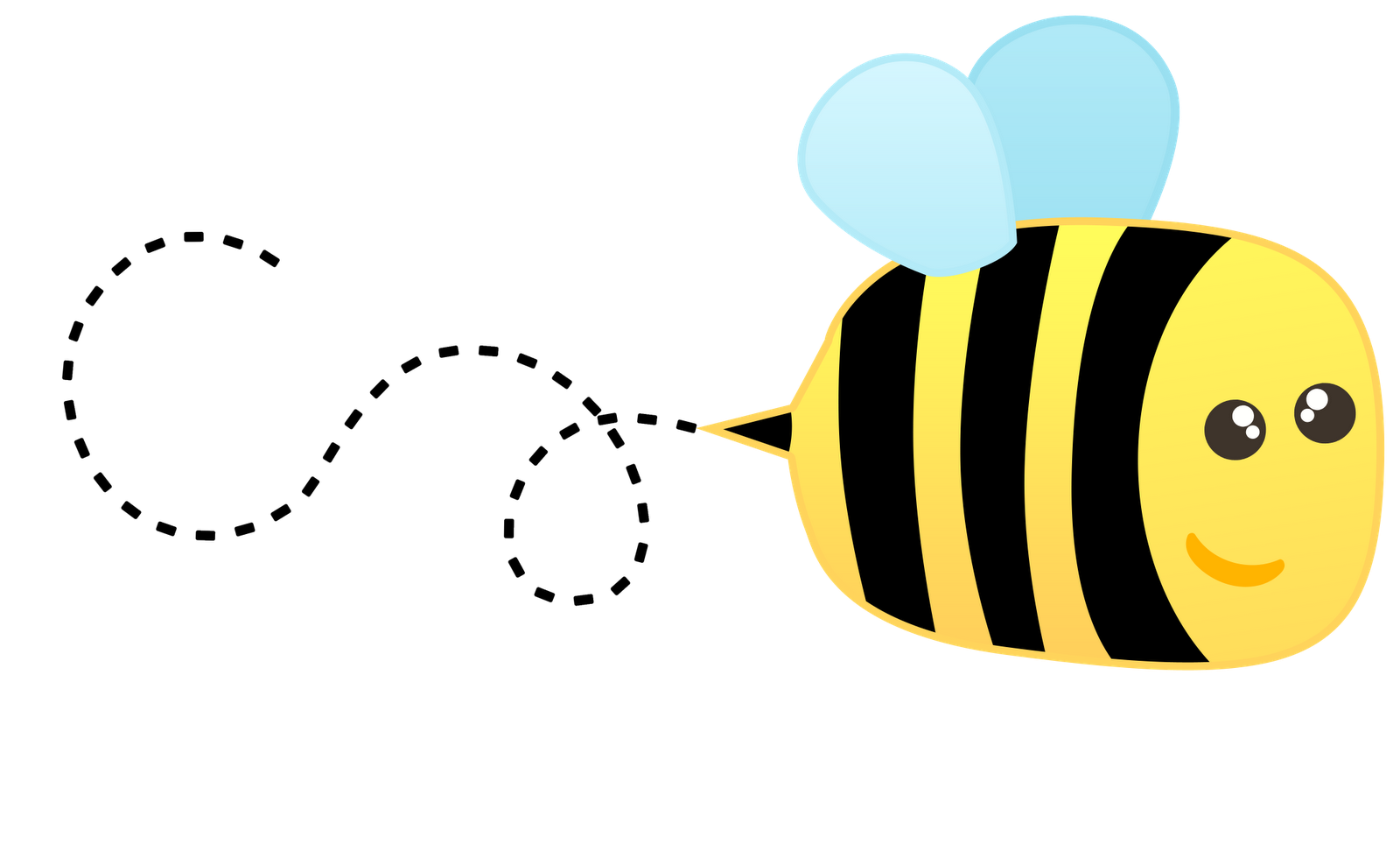 flying bee clip art � cliparts
