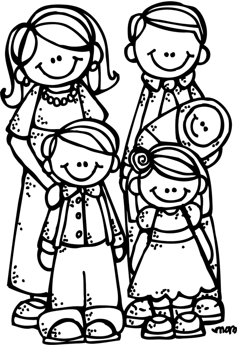 Best Family Clipart Black And White 28388 - Clipartioncom