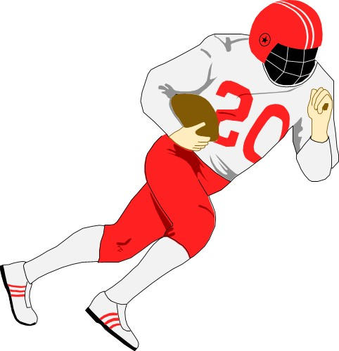 Best Football Player Clipart Clipartion Com