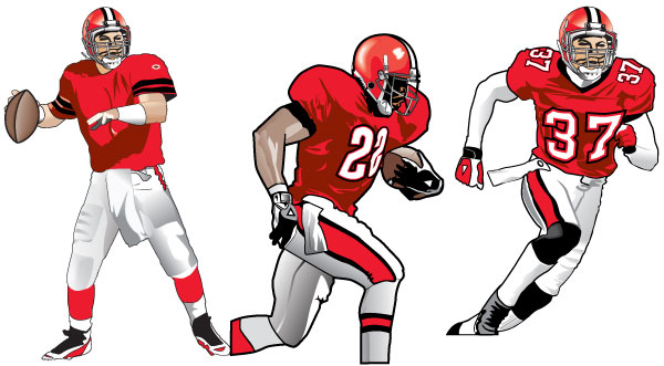 Best Football Player Clipart