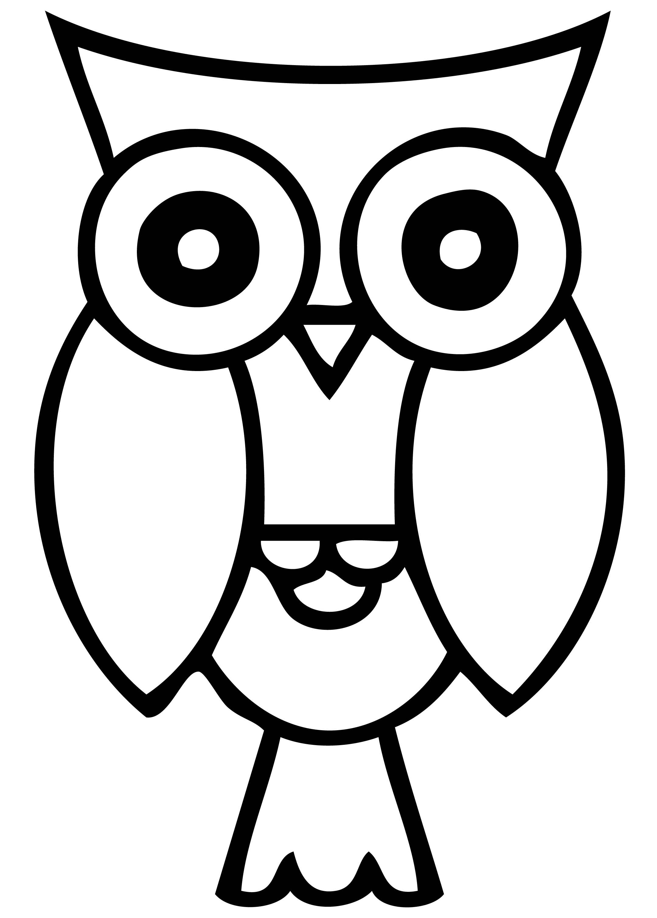 Best Owl Clipart Black and White #28301 - Clipartion.com Baby Owl Black And White