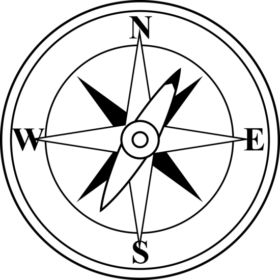 Black And White Compass Free