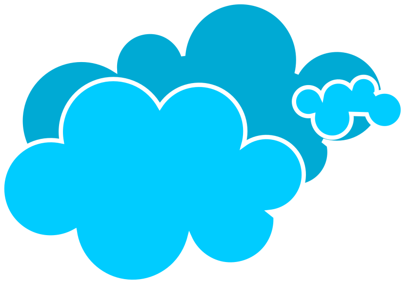 Blue Cloud At Vector