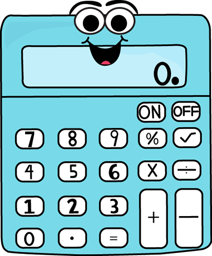 Cartoon Calculator Cartoon Calculator Vector Image