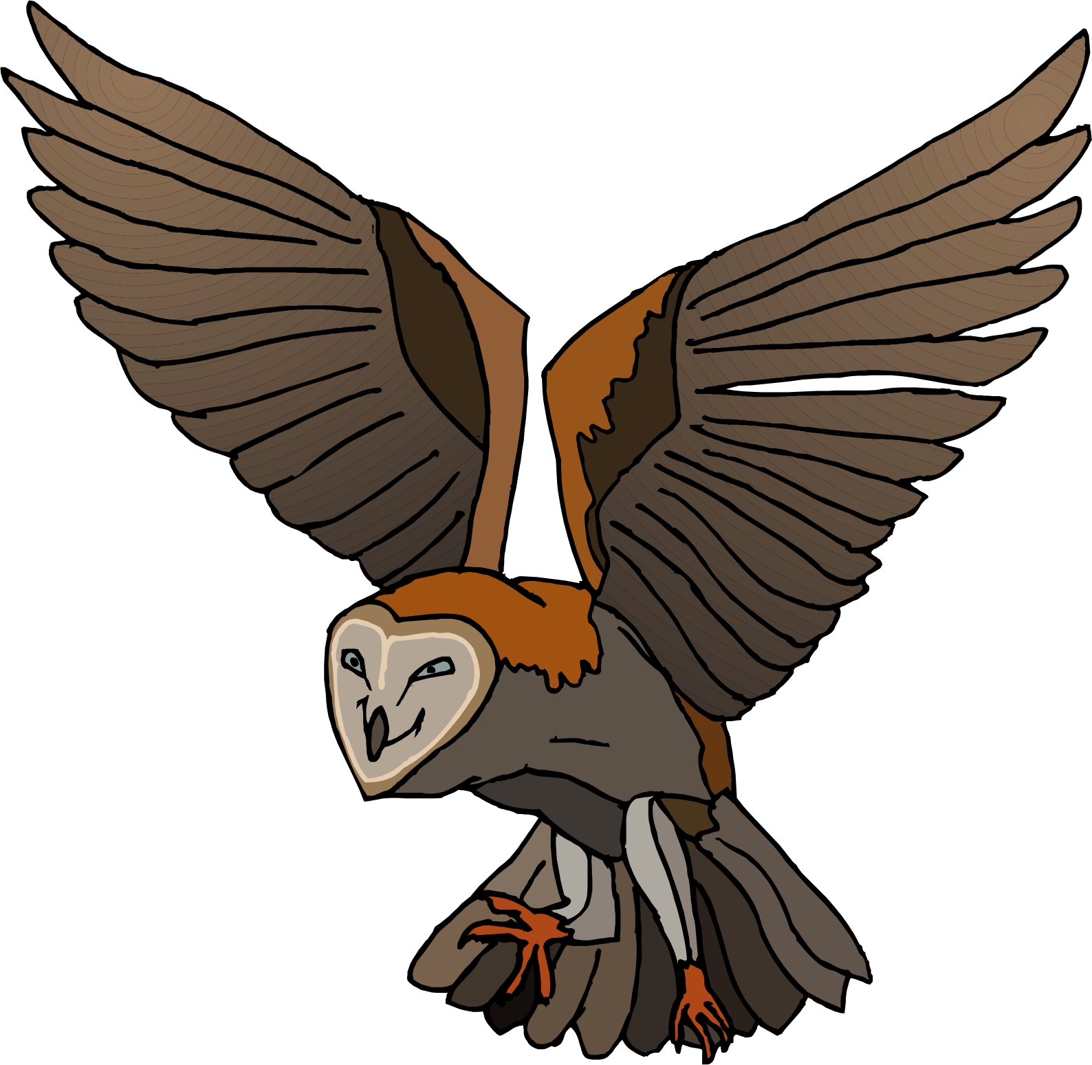 flying owl clipart clipartion com