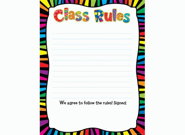Classroom Rules Border Free