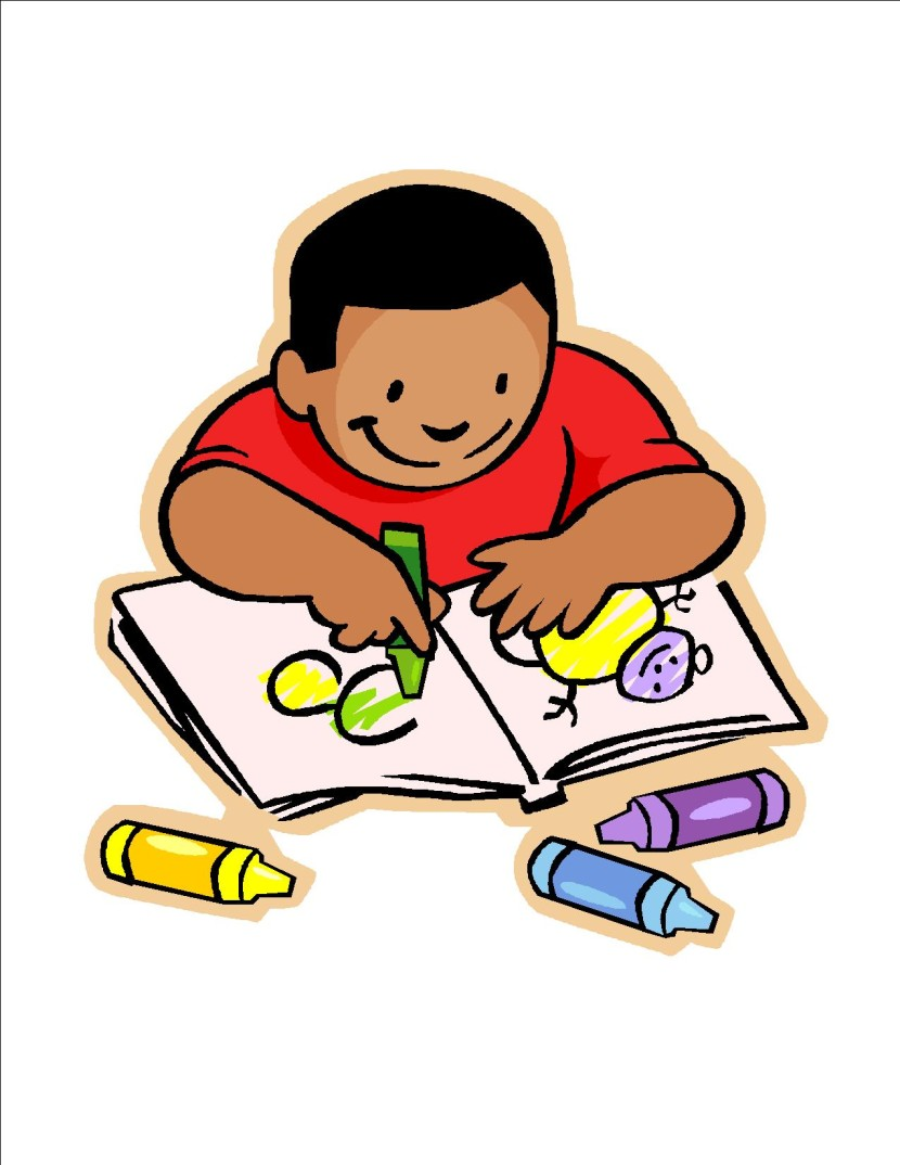 Clip Art About Children Doing School Work