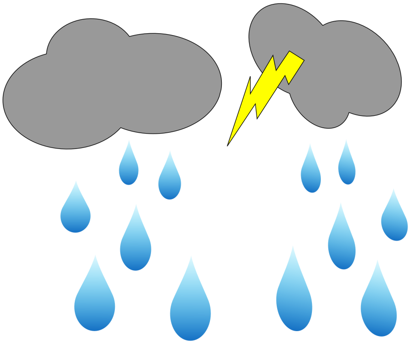 Clip Art Rain Cloud