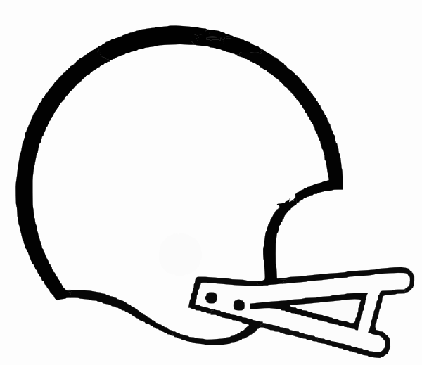 Clipart Football Helmet Black And White Free
