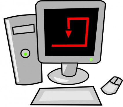 Computer Desktop Free Vector In Open Office Drawing
