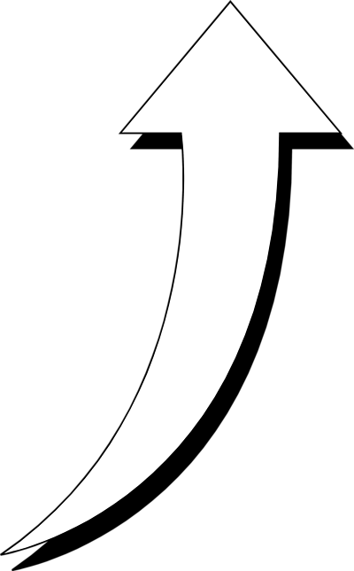 Curved Black Arrow