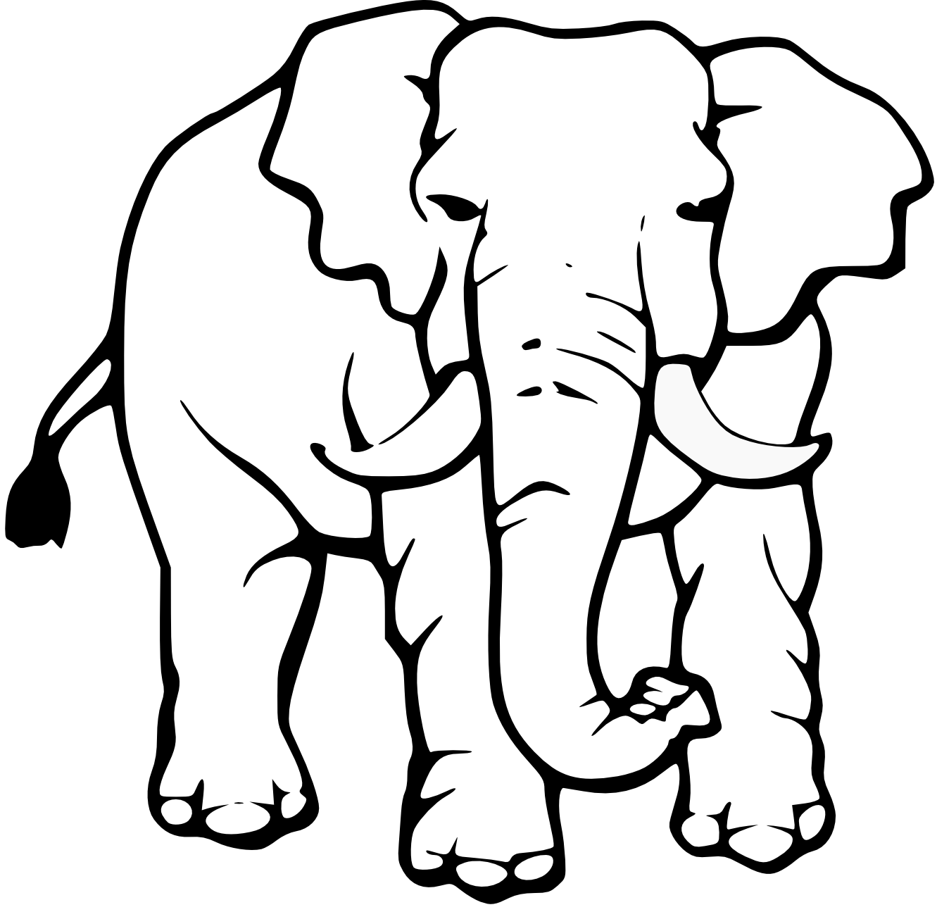 Best Cute Elephant Clipart Black and White #28163 ...