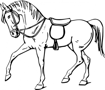 Cute Horse Clipart Black And White Free Clipart